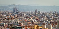 Spain, Barcelona The cityscape viewed from the Palau Nacional Fine-Art Print