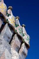 Gaudi Chimney Sturctures, Casa Batllo, Barcelona, Catalonia, Spain Fine-Art Print