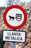 Spain, Majorca, Road Sign Fine-Art Print