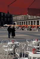 Cafe Tables in Plaza Mayor, Madrid, Spain Fine-Art Print