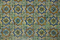 Moorish Mosaic Azulejos (ceramic tiles), Casa de Pilatos Palace, Sevilla, Spain Fine-Art Print