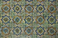 Moorish Mosaic Azulejos (ceramic tiles), Casa de Pilatos Palace, Sevilla, Spain Fine-Art Print