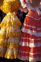Colorful Flamenco Dresses at Feria de Abril, Sevilla, Spain Fine-Art Print