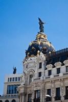 Spain, Madrid Metropolis building on Grand Via Fine-Art Print