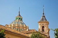 Dome and bell tower of the Iglesia de San Juan de Dios, Granada, Spain Fine-Art Print