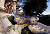 Lizard Mosaic in Parc Guell, Barcelona, Spain Fine-Art Print