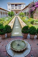 Spain, Granada Patio de la Acequia at Generalife garden Fine-Art Print