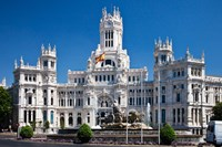 Cibeles Palace is located on the Plaza de Cibeles in Madrid, Spain Fine-Art Print