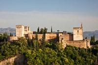 Spain, Andalusia, Granada Province, Granada View of Alhambra Palace Fine-Art Print