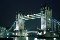 Tower Bridge at Night, London, England Fine-Art Print