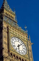 Big Ben Clock Tower on Parliament Building in London, England Fine-Art Print