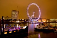 England, London River Thames and London Eye Fine-Art Print