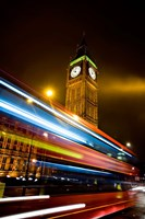 London, Big Ben, Houses of Parliament, Red bus Fine-Art Print