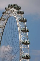 England, London, London Eye, Amuseument Park Fine-Art Print