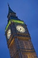 UK, London, Clock Tower, Big Ben at dusk Fine-Art Print