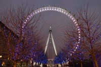 England, London, London Eye Amusement Park Fine-Art Print