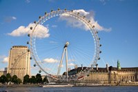 London Eye, Amusement Park, London, England Fine-Art Print
