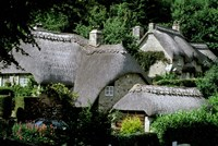Thatched Cottages, Buckland in the Moor, Devon, England Fine-Art Print