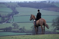 Man on horse, Leicestershire, England Fine-Art Print