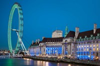 London Eye, River Thames, London, England Fine-Art Print