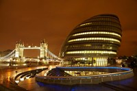 Tower Bridge, City Hall, London, England Fine-Art Print