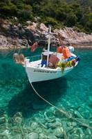 Greece, Ionian Islands, Zakynthos, Fishing Boat Fine-Art Print