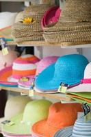 Hats for Sale, Kokkari, Samos, Aegean Islands, Greece Fine-Art Print