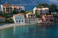Waterfront Resort Houses, Assos, Kefalonia, Ionian Islands, Greece Fine-Art Print