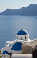 Blue church dome, Oia, Santorini, Greece Fine-Art Print