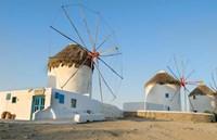 Mykonos, Greece Famous five windmills at sunrise Fine-Art Print