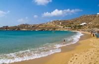 Super Paradise Beach, Mykonos, Greece Fine-Art Print
