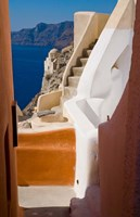 Stairways and Old Cathedral, Oia, Santorini, Greece Fine-Art Print