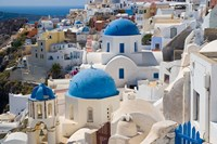Blue Domed Churches, Oia, Santorini, Greece Fine-Art Print