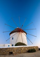 Greece, Mykonos, Hora, Windmills Fine-Art Print