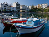 Boats on The Lake, Agios Nikolaos, Crete, Greece Fine-Art Print