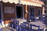 Outdoor Restaurant, Kefallonia, Ionian Islands, Greece Fine-Art Print
