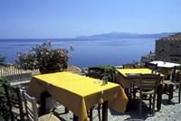 Outdoor Restaurant, Monemvasia, Greece Fine-Art Print