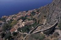 View from Upper to Lower Village, Monemvasia, Greece Fine-Art Print