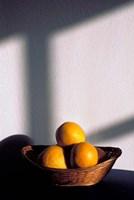 Oia, Santorini, Greece, Oranges in a Basket Fine-Art Print