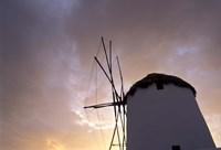 Windmill at Sunrise, Mykonos, Greece Fine-Art Print