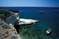 Gerontas, White Sandstone Rock of Aegean Sea, Milos, Greece Fine-Art Print