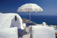 Terrace Overlooking Aegean Sea, Anafi, Cyclades Islands, Greece Fine-Art Print