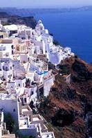 White Buildings in Oia Santorini, Athens, Greece Fine-Art Print