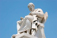 Aristotle statue, Greek Philosopher, Athens, Greece Fine-Art Print