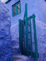 Green Gate on Kalymnos Island, Dodecanese Islands, Greece Fine-Art Print