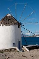 Greece, Cyclades, Mykonos, Hora Historic Cycladic style Windmill Fine-Art Print