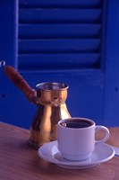 Greek Coffee and Copper Pot, Crete, Greece Fine-Art Print