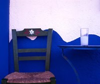 A Glass of Ouzo on a Taverna table South Crete Greece Fine-Art Print