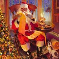 Santa Christmas List Fine-Art Print