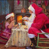 Santa Tea For Two Fine-Art Print